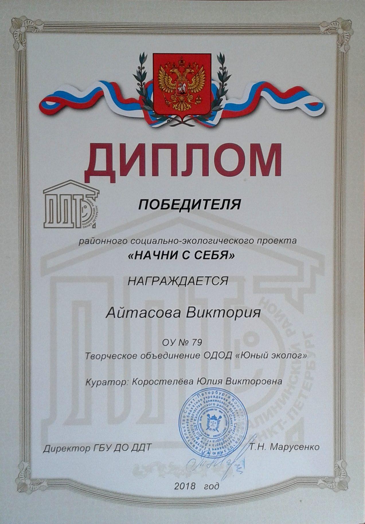 Айтасова Виктория